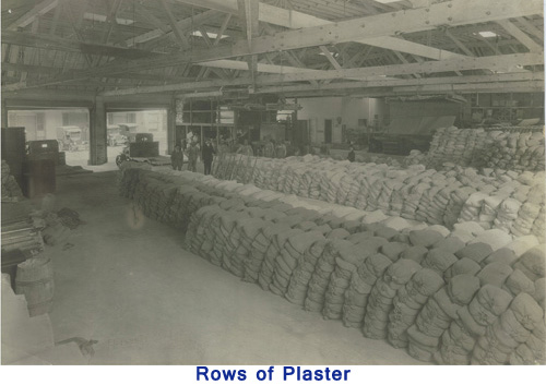 Rows of Plaster